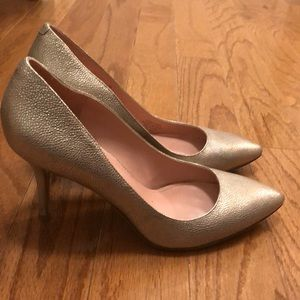Enzo Angiolini brushed gold pumps